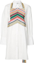 Rosie Assoulin geometric panel elongated shirt - women - Cotton - S