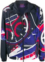 Ralph Lauren Purple Label vehicle motif hooded jacket