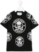 Philipp Plein skull and crossbones T-shirt - kids - Cotton - 4 yrs