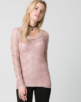 Le Château Sequin Scoop Neck Sweater