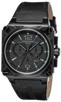 Torgoen Swiss Men's Chronograph Watch T27108 with Phantom/Blue Dial and Black Italian Leather Strap