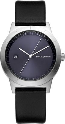 Jacob Jensen Womens Analogue Classic Quartz Watch with Leather Strap JJ151