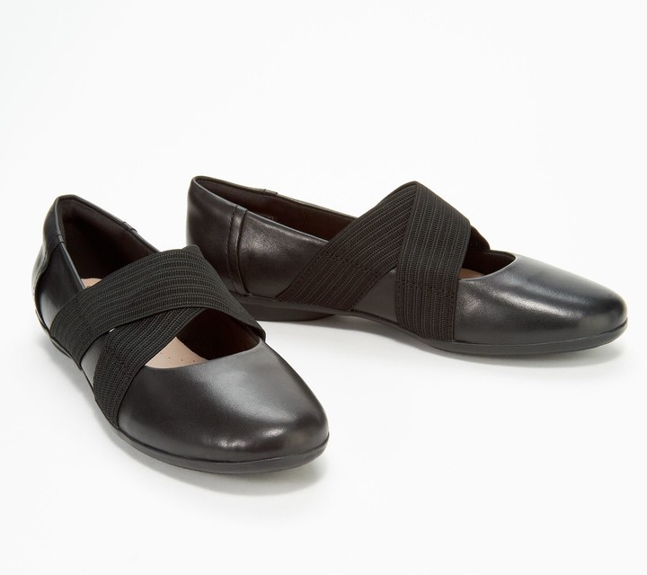 Clarks Collection Leather Cross- Strap