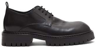 Ann Demeulemeester Lace Up Leather Derby Shoes - Womens - Black