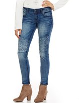Miss Me Moto Embroidered Floral Moto Skinny Jeans