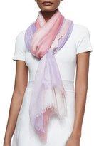 Bergdorf Goodman Cashmere Featherweight Dip-Dye Shawl, Pink/Purple