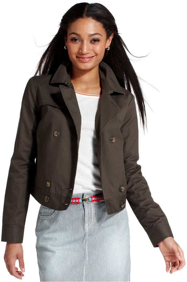 Tommy Hilfiger Cropped Trench Jacket