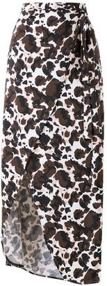 BRIGITTE Melissa animal-print beach skirt