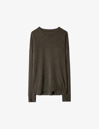 Zadig & Voltaire Cici star-patch cashmere jumper