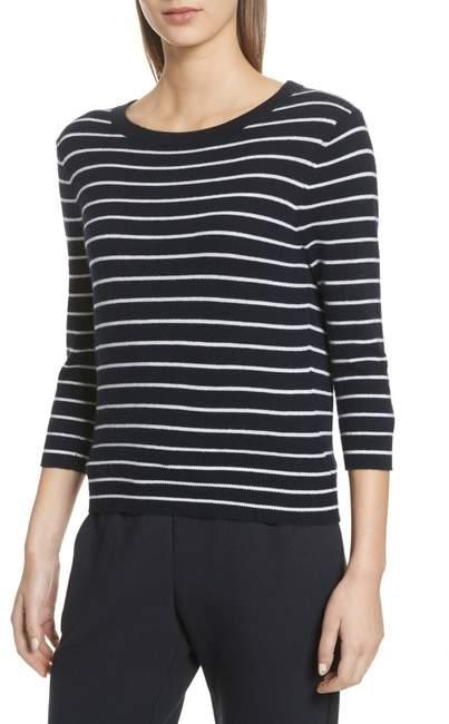 Vince Stripe Cashmere Tie Back Sweater