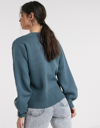 Vila double breasted cardigan