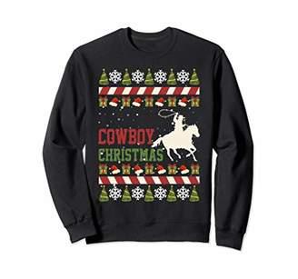 Cowboy Christmas Ugly Xmas Gift Boys Kids Girls Pajamas Sweatshirt