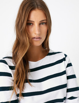 Marks and Spencer Pure Cotton Striped Longline Tunic