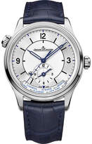 Jaeger-LeCoultre Jaeger Le Coultre Master geographic stainless steel and alligator watch