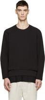Ann Demeulemeester Black Raglan Sweatshirt