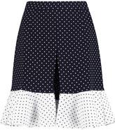 J.W.Anderson Ruffled polka-dot crepe shorts