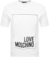 Love Moschino Box Logo T Shirt White