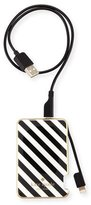 Kate Spade striped slim battery bank for iPhone