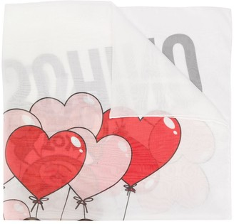 Moschino Heart Balloon Print Scarf