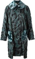 Comme des Garcons camouflage velour coat - women - Cotton/Polyester/Rayon - S