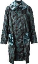 Comme des Garcons camouflage velour coat