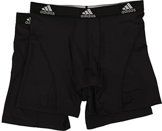 adidas Sport Performance ClimaLite 2-Pack Boxer Brief (Black/Black/Black/Black) Men's Underwear