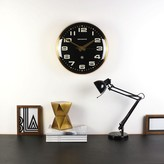 Graham and Green The Brixton Clock In Brass And Black