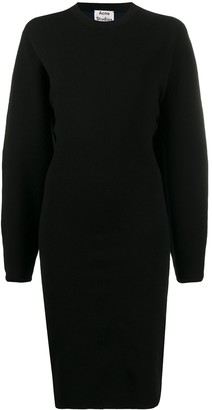 Acne Studios Blouson-Sleeve Midi Dress