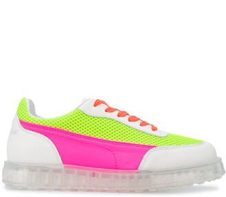 Joshua Sanders Zenith low-top neon trainers