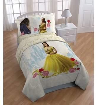 Disney Princess Disneys Beauty and the Beast My Romantic Beauty Kids Twin Polyester Reversible Comforter w/bonus Sham