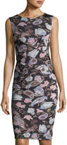 Catherine Malandrino Caron Floral-Print Front-Twist Dress