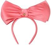 Federica Moretti Ada Silk Satin Headband With Large Bow