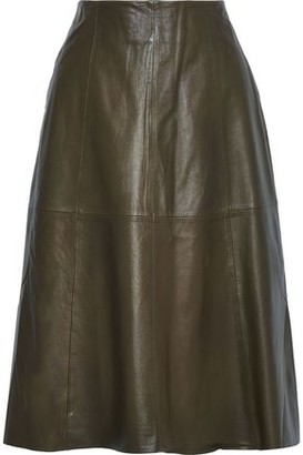 Muu Baa Muubaa Flared Leather Midi Skirt