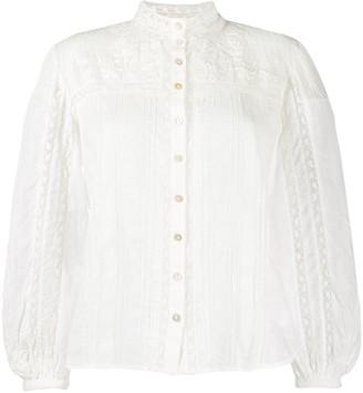 LoveShackFancy Ronda embroidered shirt