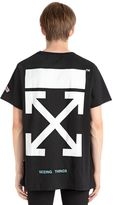 Off-White Brushed Arrows Cotton Jersey T-Shirt
