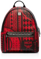 MCM Stark Baroque Print Backpack
