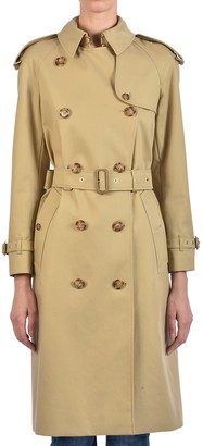 Burberry Monogram-Lined Belted Trench Coat