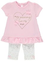 George Mummy Loves Me Top and Leggings Set