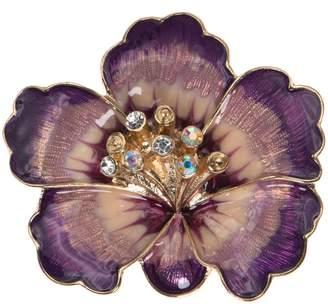 Anne Klein Crystal Flower Brooch