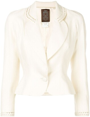 John Galliano Pre Owned Cut-Out Detail Fitted Blazer