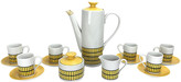 One Kings Lane Vintage Mid-Century Mod Espresso Coffee Set - Eat Drink Home - white/yellow/black