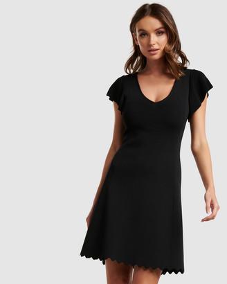 Forever New Vanessa Flutter Sleeve Knit Dress