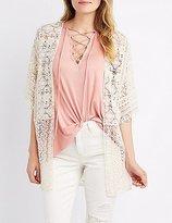 Charlotte Russe Crochet Lace Kimono