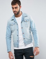 Wrangler Slim Fit Denim Jacket Beach Bleach