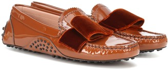 Tod's X Alessandro Dell'Acqua patent leather loafers
