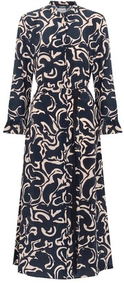 S Max Mara Marengo printed silk midi dress