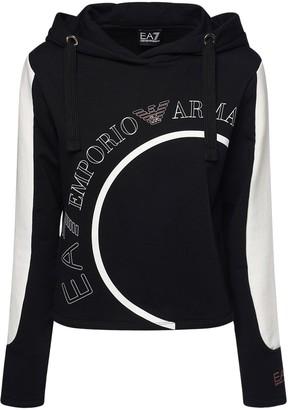 EA7 Emporio Armani Cotton Sweatshirt Hoodie