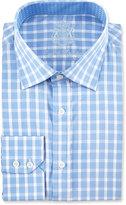 English Laundry Plaid Long-Sleeve Dress Shirt, Blue