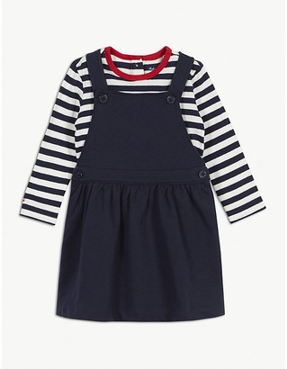 Ralph Lauren Striped cotton blend top and pinafore set 3-24 months