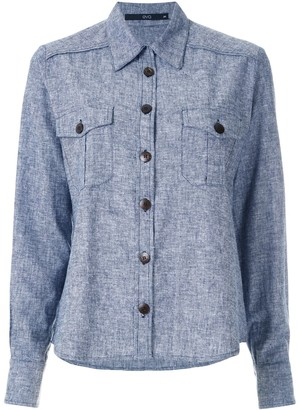 Eva Button-Up Long-Sleeve Shirt